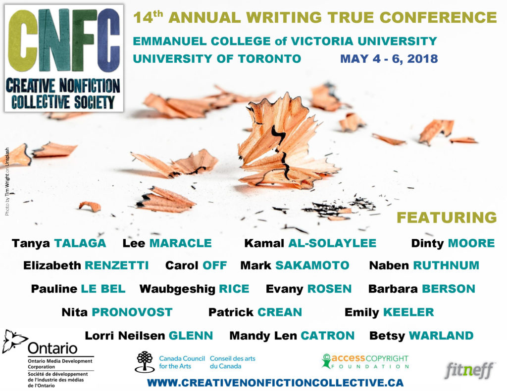 2018 Creative NonFiction Collective Conference Poster v12