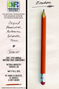 Creative Nonfiction Collective Society 14th Annual Writing True Conference Poster